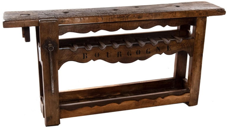Large French Wine Rack Workbench For Sale 1