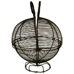 French Wire Salad Or Eggs Basket, circa 1940