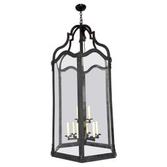 Large French Wrought Iron Lantern