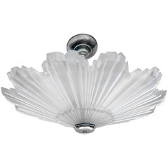 Large Frosted Glass Fixture