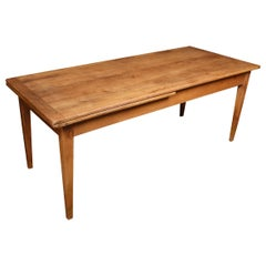 Large Fruitwood Farmhouse Table