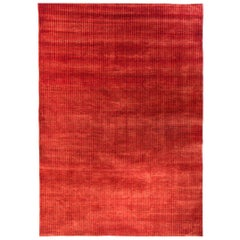 Large Clear Red Contemporary Gabbeh Persian Wool Rug