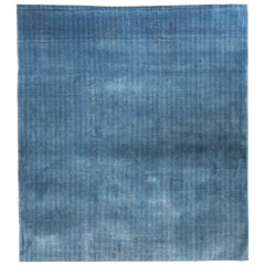 Large Denim Blue Contemporary Gabbeh Persian Wool Rug
