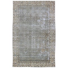 Large Gallery Persian Malayer Runner with Herati Design in Gray and Earth Tones