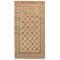 Large Gallery Size Antique Khotan Carpet. Size: 9 ft x 17 ft 2 in
