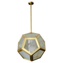 Large Geometric Pentagon Hanging Lantern