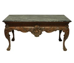 Large George II Style Carved Mahogany Centre Table