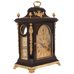 Large George III Bracket Clock by William Clarke, London, Circa 1750-60