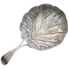 Large George III Silver 'Alder Leaf' Caddy Spoon, 1809