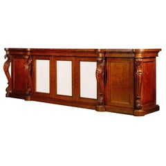 Large George IV, Plum Pudding Mahogany Side Cabinet