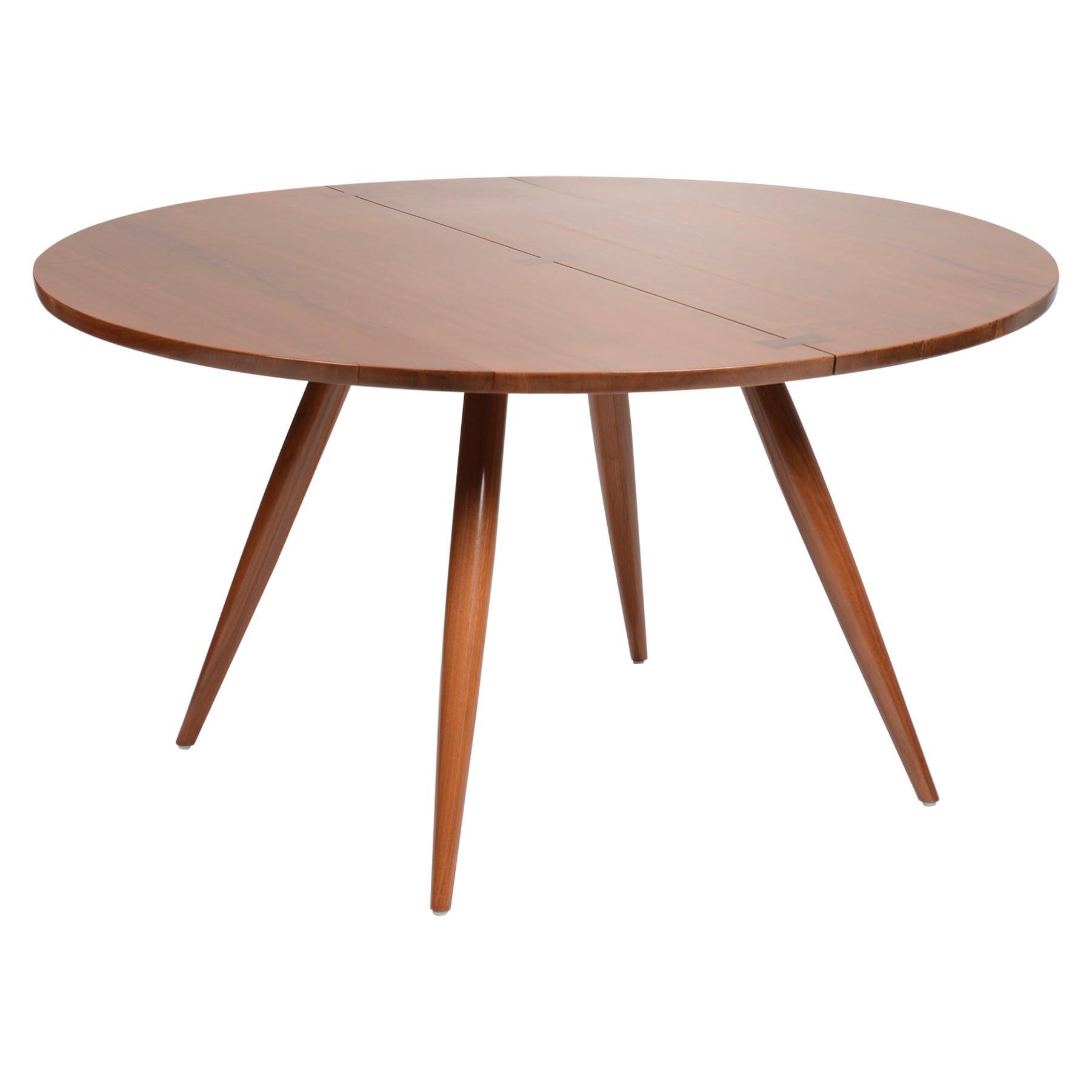 Large George Nakashima Round Walnut Dining Table