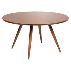 Large George Nakashima Round Walnut Dining Table