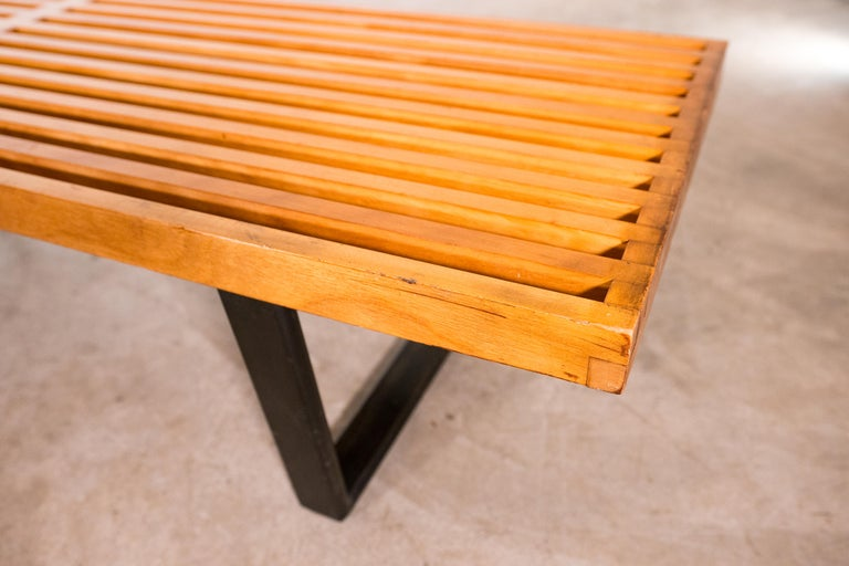 20th Century Large George Nelson Slat Bench for Herman Miller For Sale