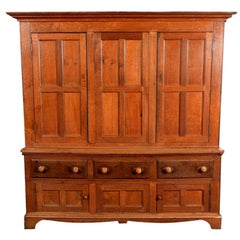 Large Georgian Oak House Keepers Cupboard
