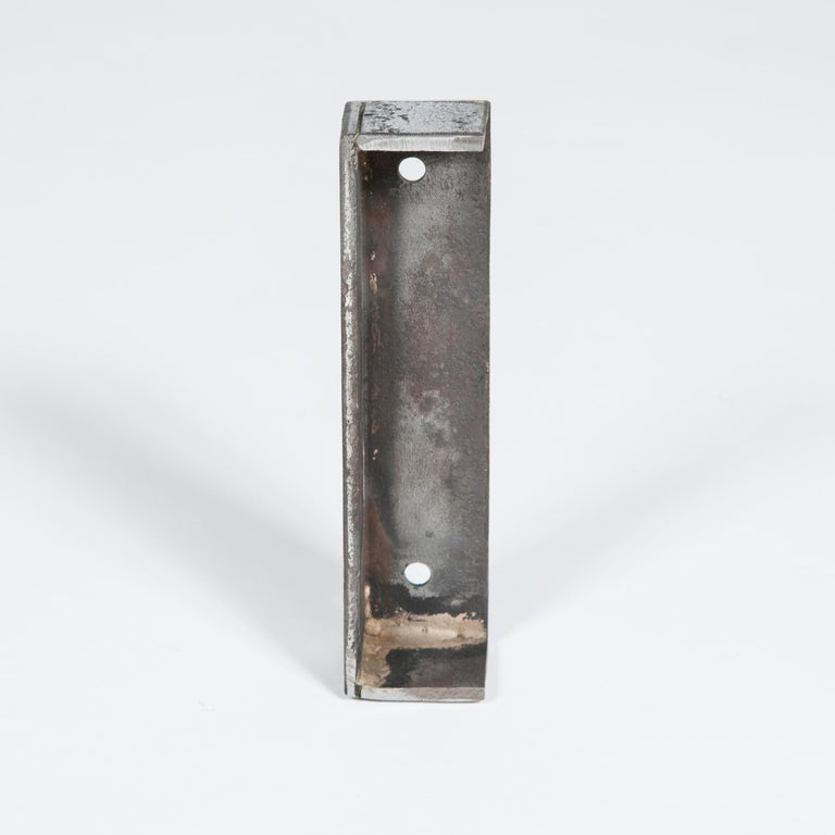 Large Georgian Steel Rim Lock with Brass Beehive Handle For Sale 1