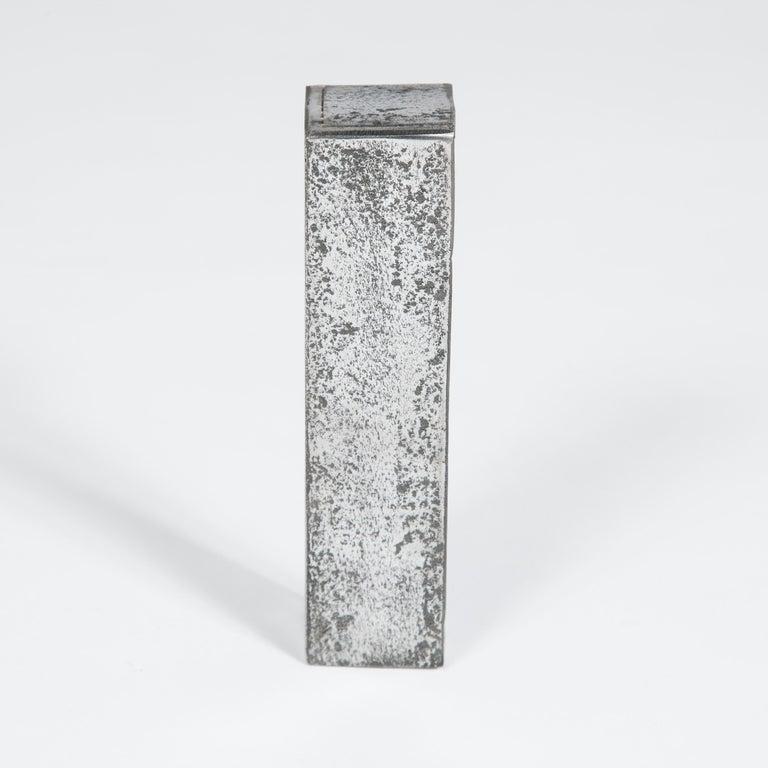 Large Georgian Steel Rim Lock with Brass Beehive Handle For Sale 2