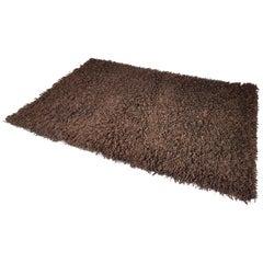 Large German Brown 100% Wool 1970s Carpet by Desso