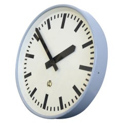Large German Factory Clock, circa 1950s