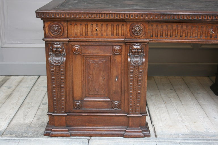 Large German Historicism Renaissance Revival Desk, circa 1890 For Sale 10
