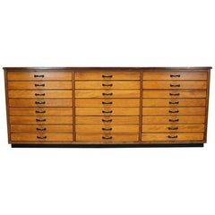 Large German Pine Apothecary Cabinet, 1950s