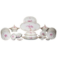 Large German Porcelain Dinner Service, Meissen, circa 1875