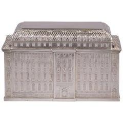 Large German Silver Box Architectural-Form Box, circa 1925