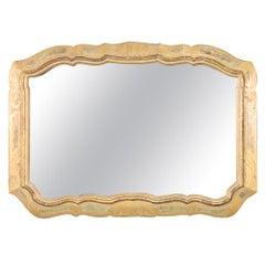 Large Gilded Italian Venetian Florentine Wall Mirror, circa 1940