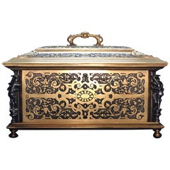 Large Gilt and Silvered Bronze Casket