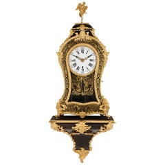 Large Gilt Bronze Boulle Wall Clock