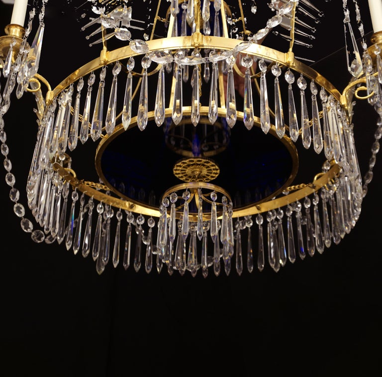 18th Century Large Gilt Bronze Louis XVI Chandelier in the Manner of Werner & Mieths Berlin For Sale