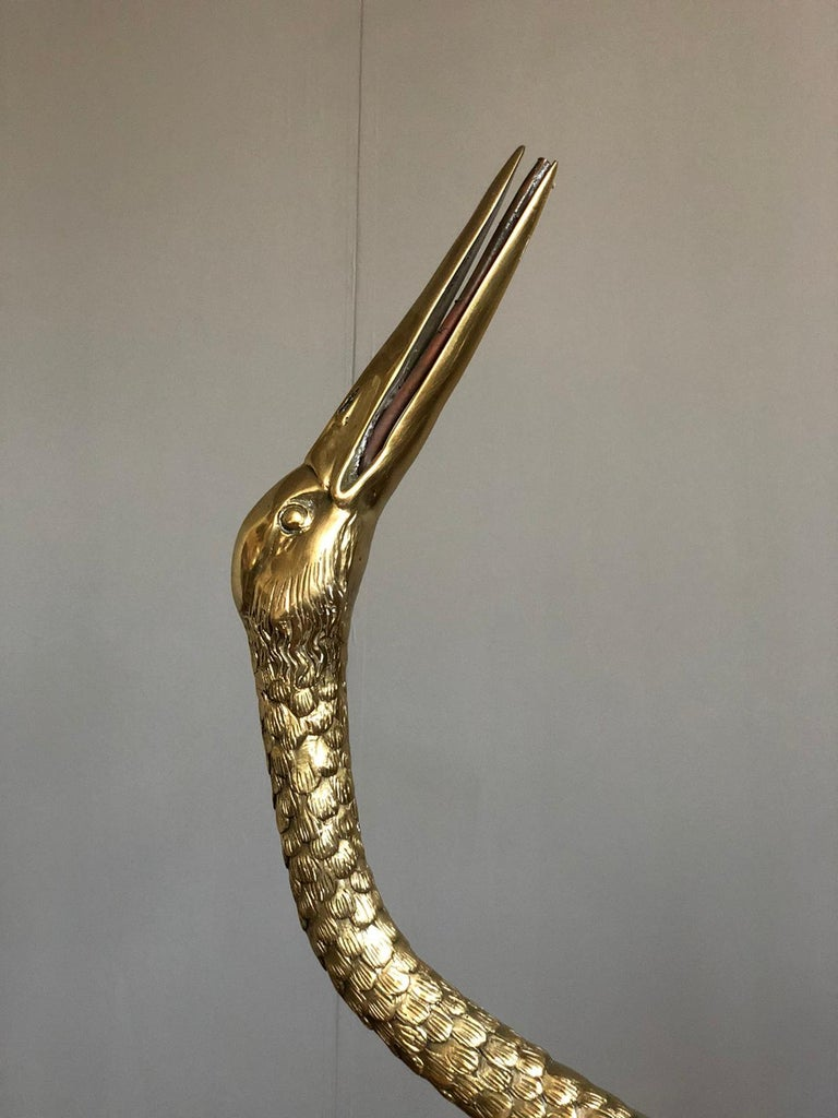 Large Gilt Bronze Sculptures of Herons In Excellent Condition In Rome, IT