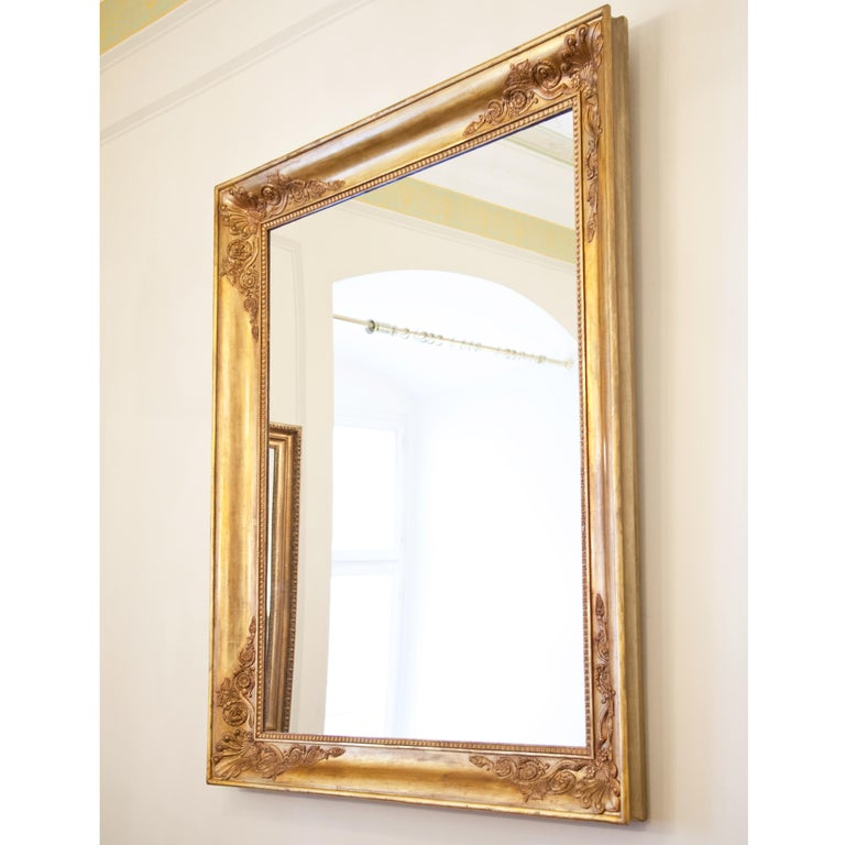 European Large Gilt Empire Wall Mirror, First Half of the 19th Century For Sale
