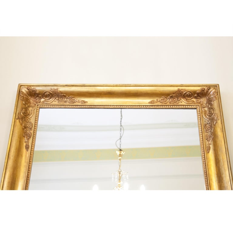 Large Gilt Empire Wall Mirror, First Half of the 19th Century For Sale 2