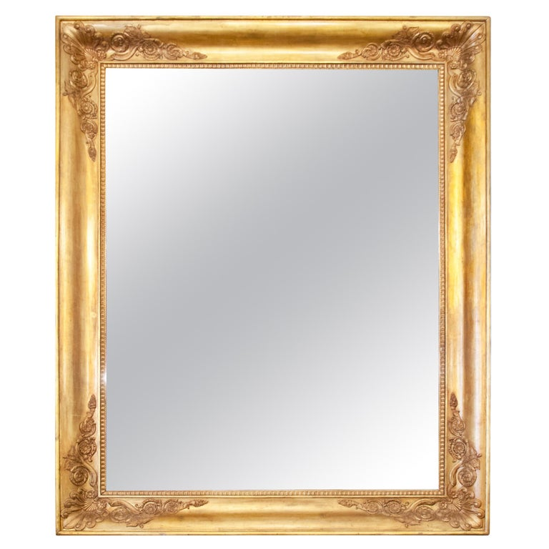 Large Gilt Empire Wall Mirror, First Half of the 19th Century For Sale