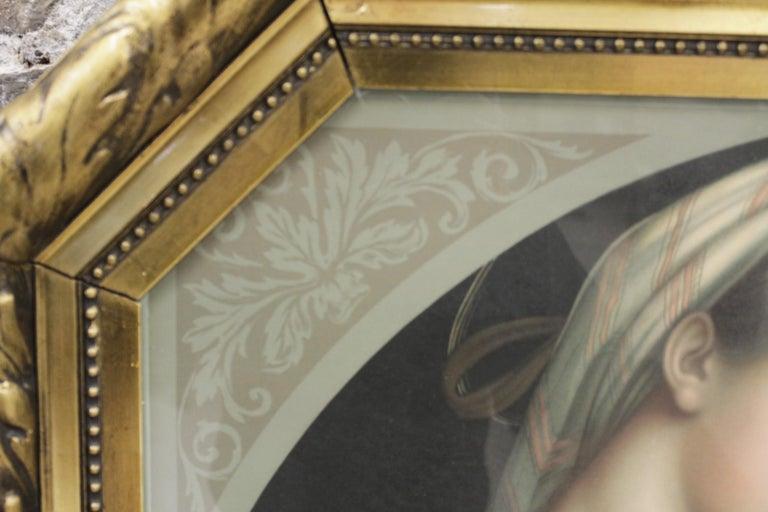 Italian Large Gilt Framed Art Deco Era Chrome Lithograph of the Adoration of the Magi For Sale