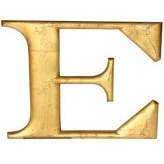 """Large Gilt Letter """"E"""""""
