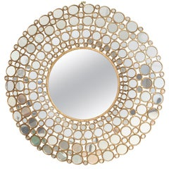 Large Gilt Metal Mirror