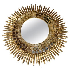 Large Gilt Sunburst Mirror