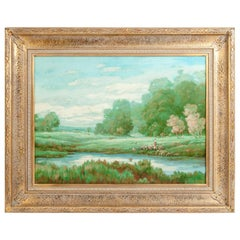 Large Giltwood Frame Oil / Canvas Painting