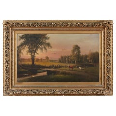 Large Giltwood Framed Oil / Board Painting