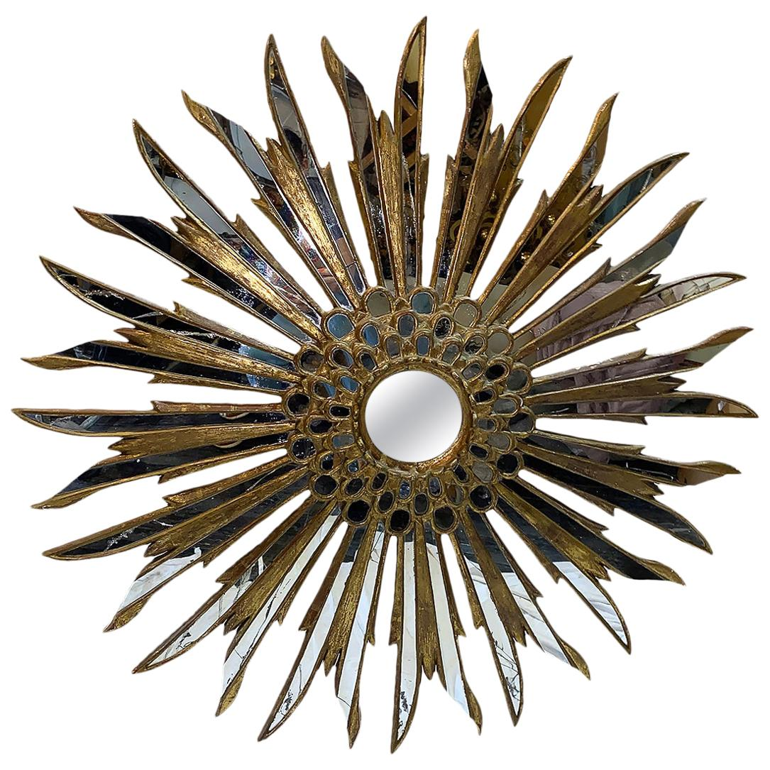 Large Giltwood Sunburst Mirror