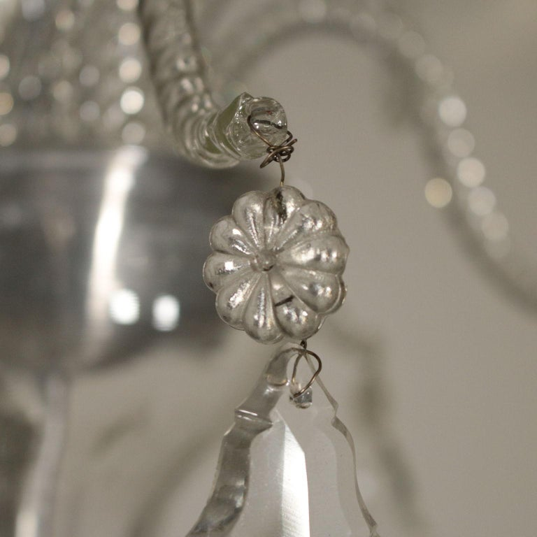 Large Glass Chandelier Murano, Italy, First Half of the 1900s For Sale 2