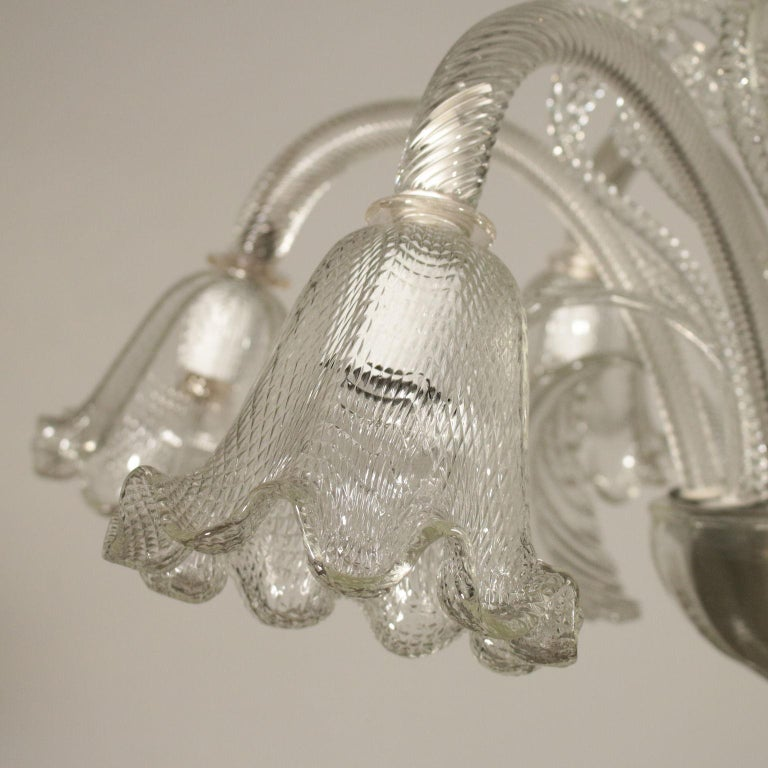 Other Large Glass Chandelier Murano, Italy, First Half of the 1900s For Sale