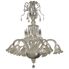Large Glass Chandelier Murano, Italy, First Half of the 1900s