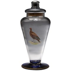 Large Glass Cocktail Shaker, circa 1940s