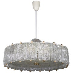 Large, Glass Drum Chandelier, Aureliano Toso for Venini , circa 1960s