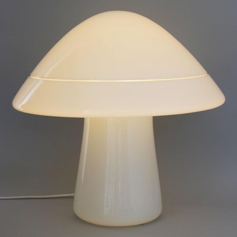 Late 20th Century Large Glass Mushroom Lamp For Sale