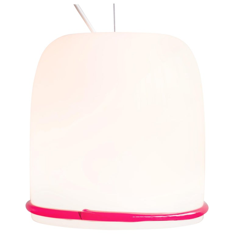Large Glass Pendant by Ettore Sottsass for Vistosi For Sale