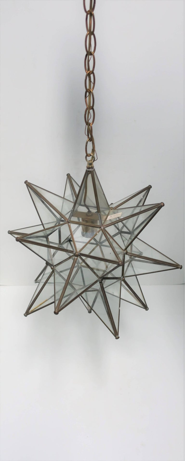 Large glass star pendant light at 1stdibs large glass star pendant light for sale 1 aloadofball Image collections