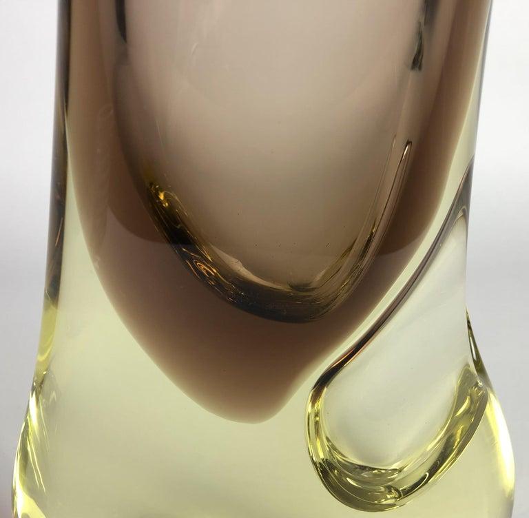 Mid-20th Century Large Glass Vase by Josef Cvrcek for Zeleznobrodske Sklo Glassworks, 1960s